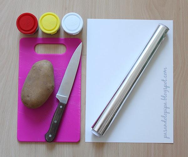 pasandolopipa | material para sellos de patata