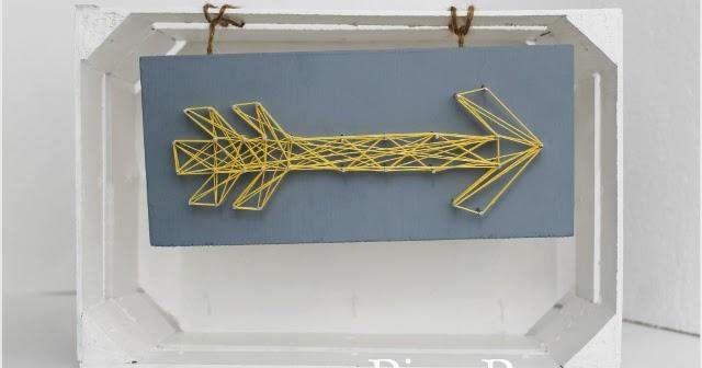 Haz un cuadro con clavos e hilo para elretopinterest - No mas clavos para colgar cuadros ...