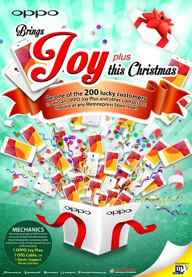Oppo brings Joy Plus this Christmas
