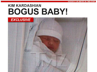 Kim Kardashian fake baby photos