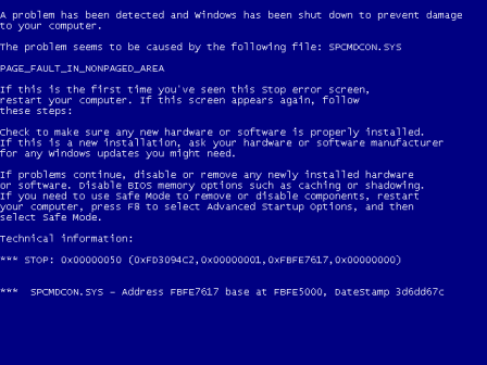 Mengetahui Kode Error Blue Screen