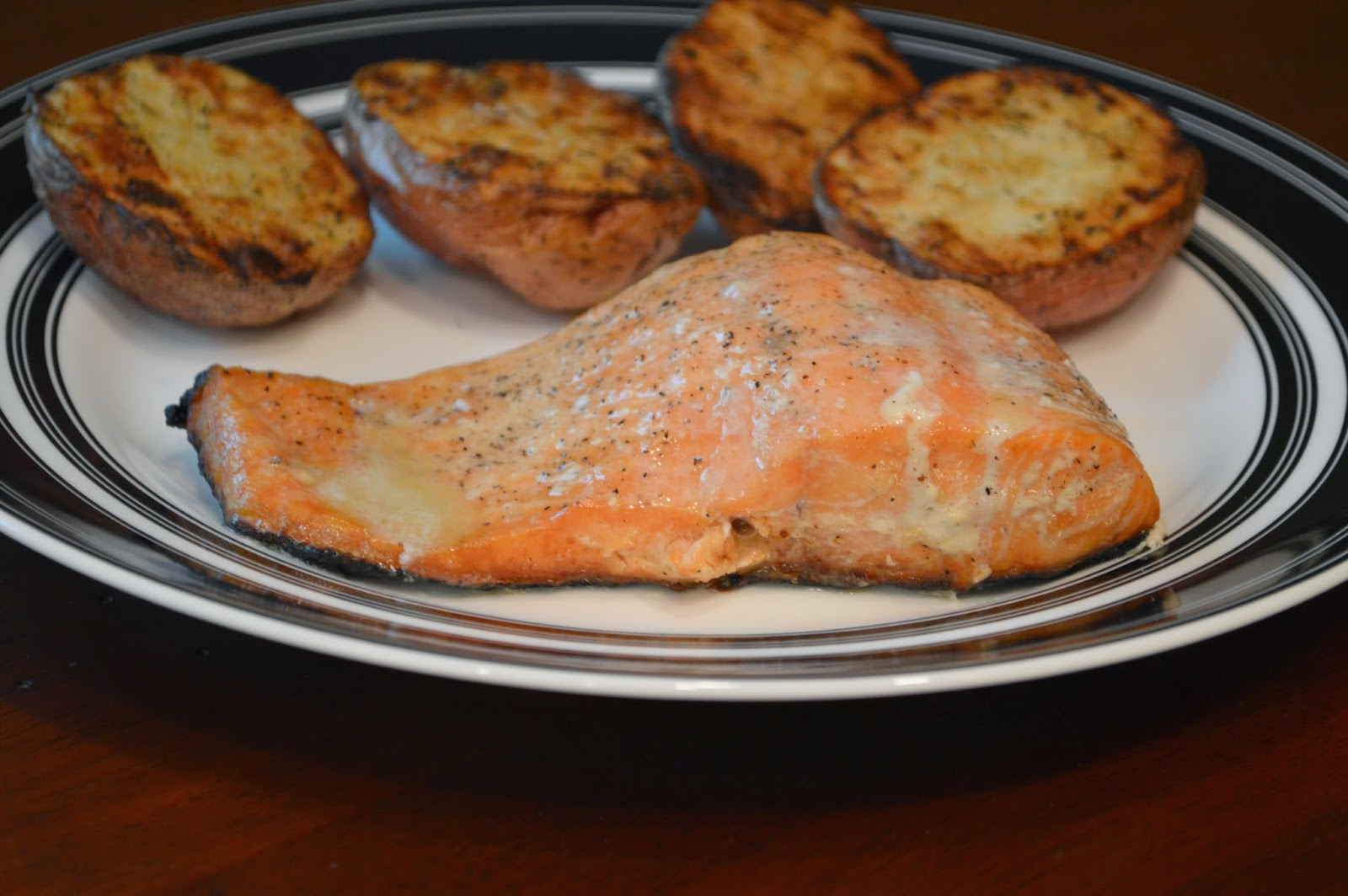 ... - From My Kitchen To Yours: Grilled Salmon with a Lime Butter Sauce