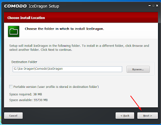 Select the file location where you want to save the file components.