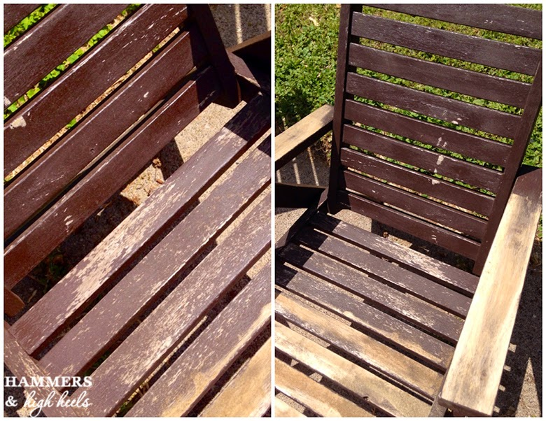 Fine Painted Wood Patio Furniture Heels Some Serious Stripping And Refinishing Our Decor
