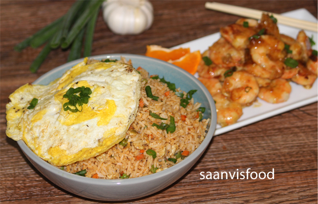 Indonesian Fried Rice using Shrimp Paste (Nasi Goreng)