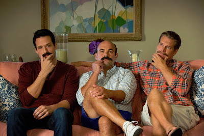 The men of Cougar Town stent the hiatus growing mustaches
