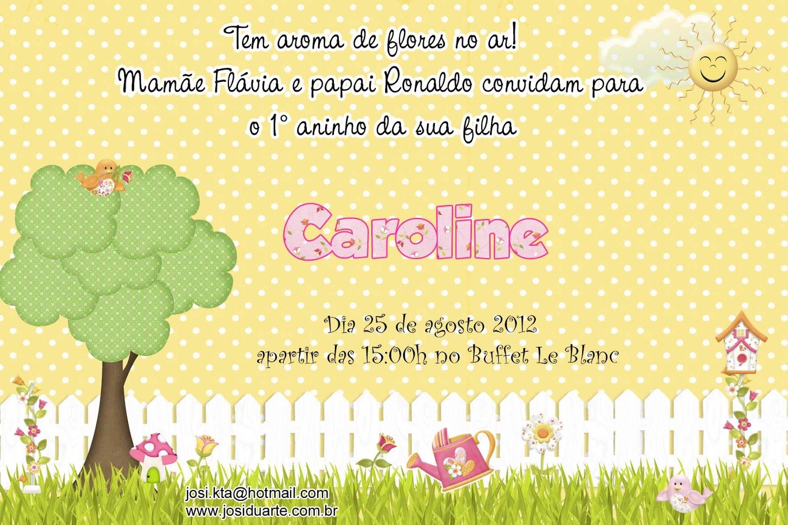 moldura para fotos tema jardim encantado : moldura para fotos tema jardim encantado:Ateliê Josi Duarte: Convite jardim encantado amarelo