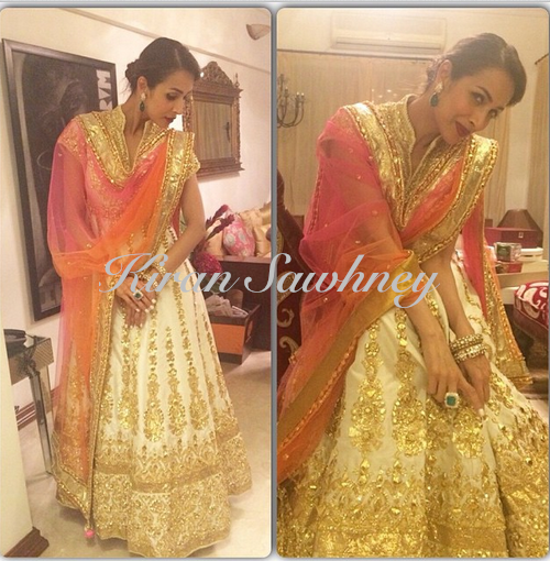 Malaika Arora Khan at Soha Ali's wedding reception in Preeti S Kapoor