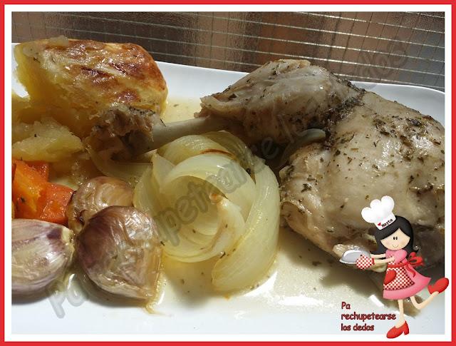 * Muslos de pollo en bolsa de asar (tradicional)