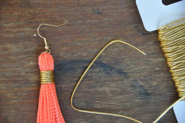 Как сделать серёжки из ниток