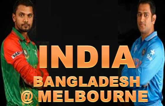 Live score of India Vs Bangladesh @ melbourne