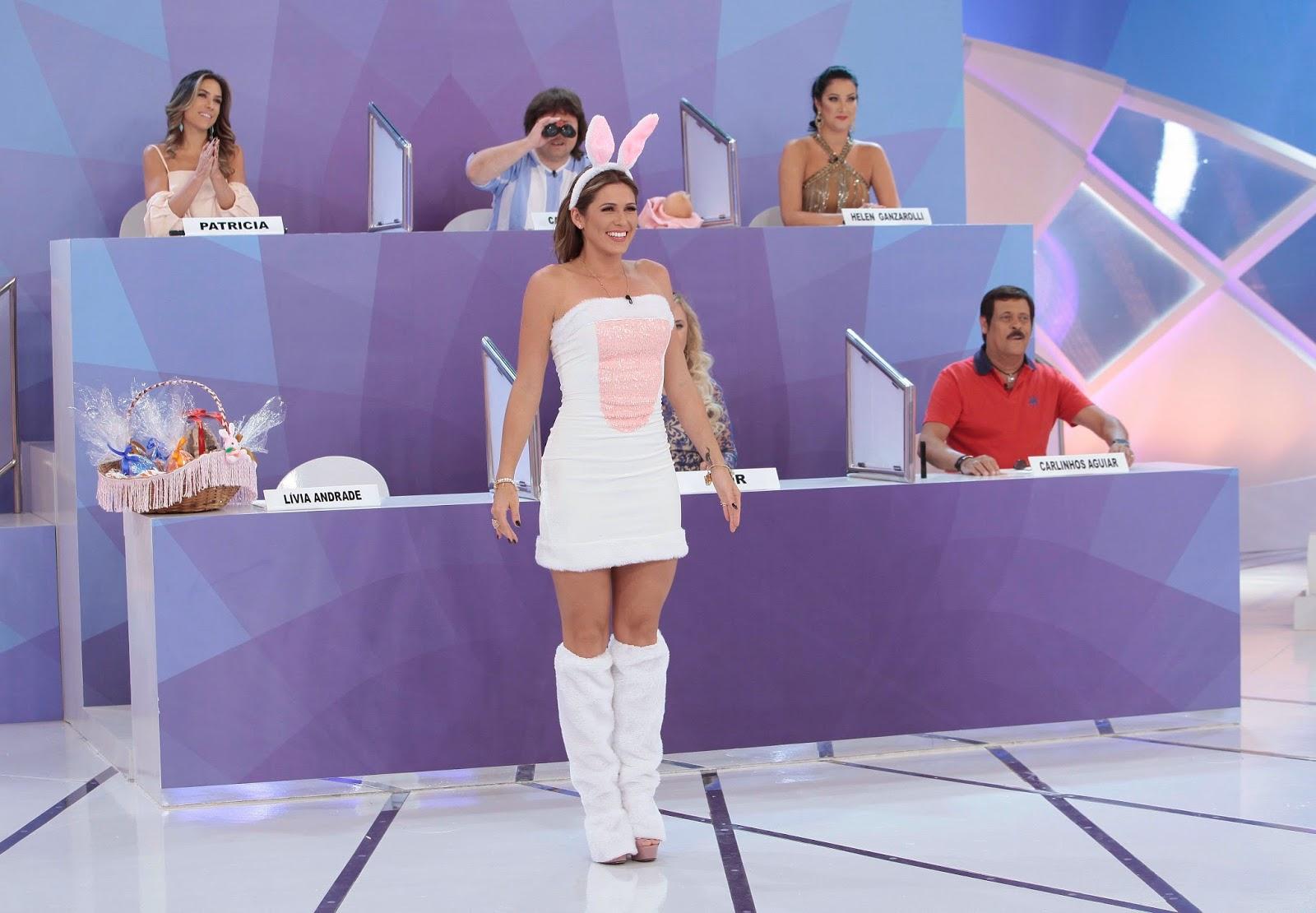 Páscoa: Lívia Andrade se veste de coelha no Programa Silvio Santos ...