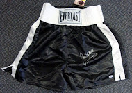 COLLECTOR'S EDITION BOXING TRUNKS AUTOGRAPHED BY BOXING LEGENDS