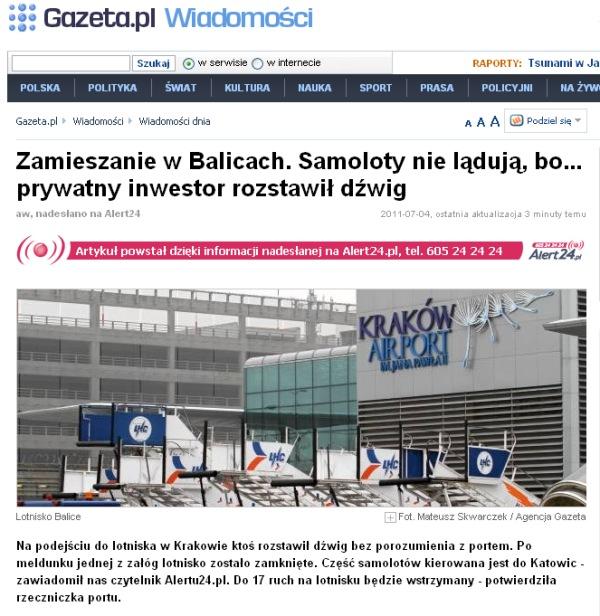 Lotnisko Krakow Balice