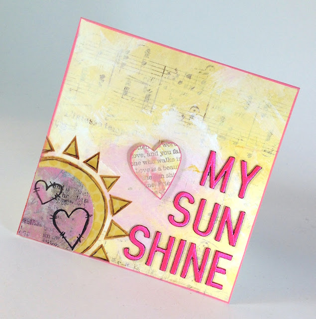 sunshine handmade greeting card lisa fulmer