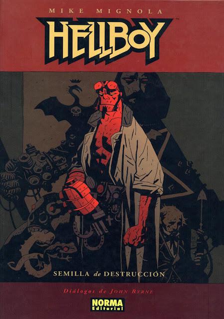 Portada del Tomo 1 Cartoné de Hellboy Editorial Norma