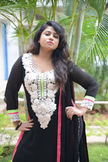 Actress Jyothi Latest Pictures in Black Chididar At Sahasam Cheyara Dimbhaka Trailer Launch (7)