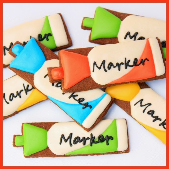 Decorated Whiteboard Marker Cookies Tutorial