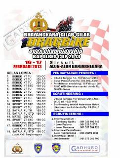 Hasil Drag Bike Banjar negara, 17 Fabruari 2013