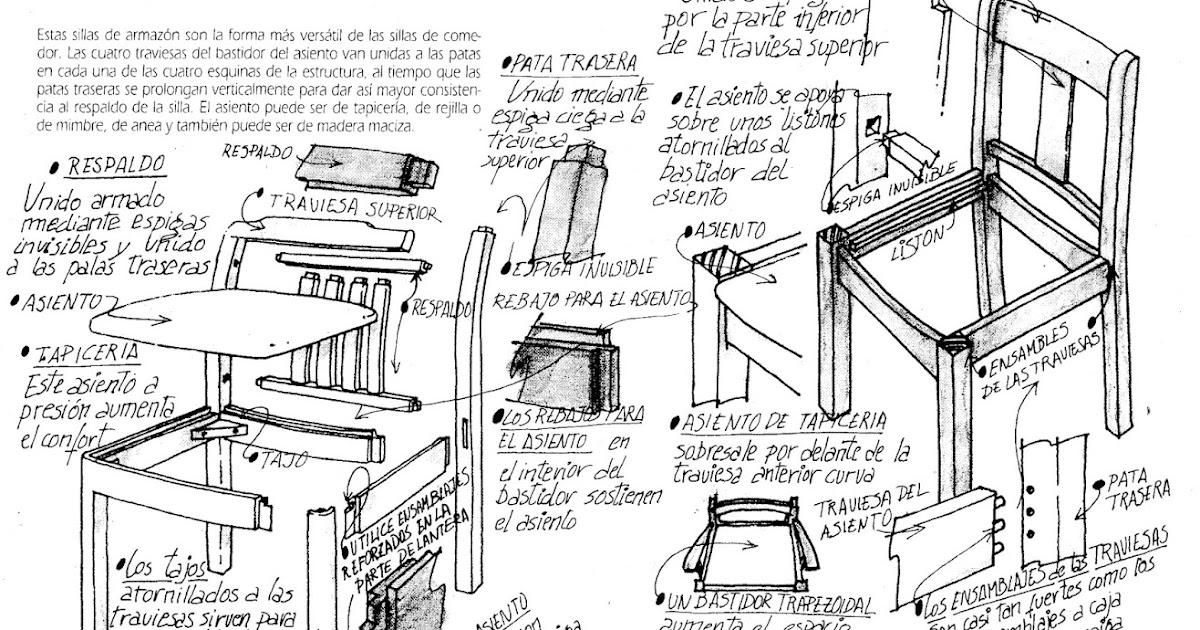 La ebanister a planos para construcci n de sillas for Planos de construccion