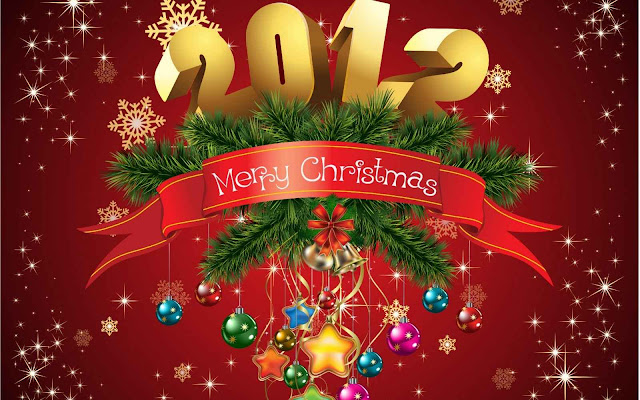 Merry Chistmas 2012 per con fondo rojo