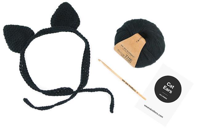 Kit para hacer orejas de gato con crochet
