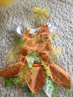 DIY Starfish Costume skirt leotard