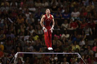 Jonathan Horton competes on the high bar during day 3 of the 2012 U.S. Olympic Gymnastics Team Trials at HP Pavilion on June 30, 2012 in San Jose, California. (June 29, 2012 - Source: Ezra Shaw/Getty Images North America)