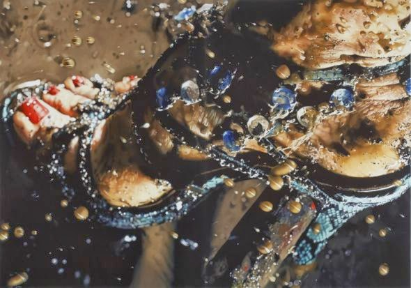 Marilyn Minter pinturas hiper-realistas closes de bocas lábios olhos mulheres pamela anderson