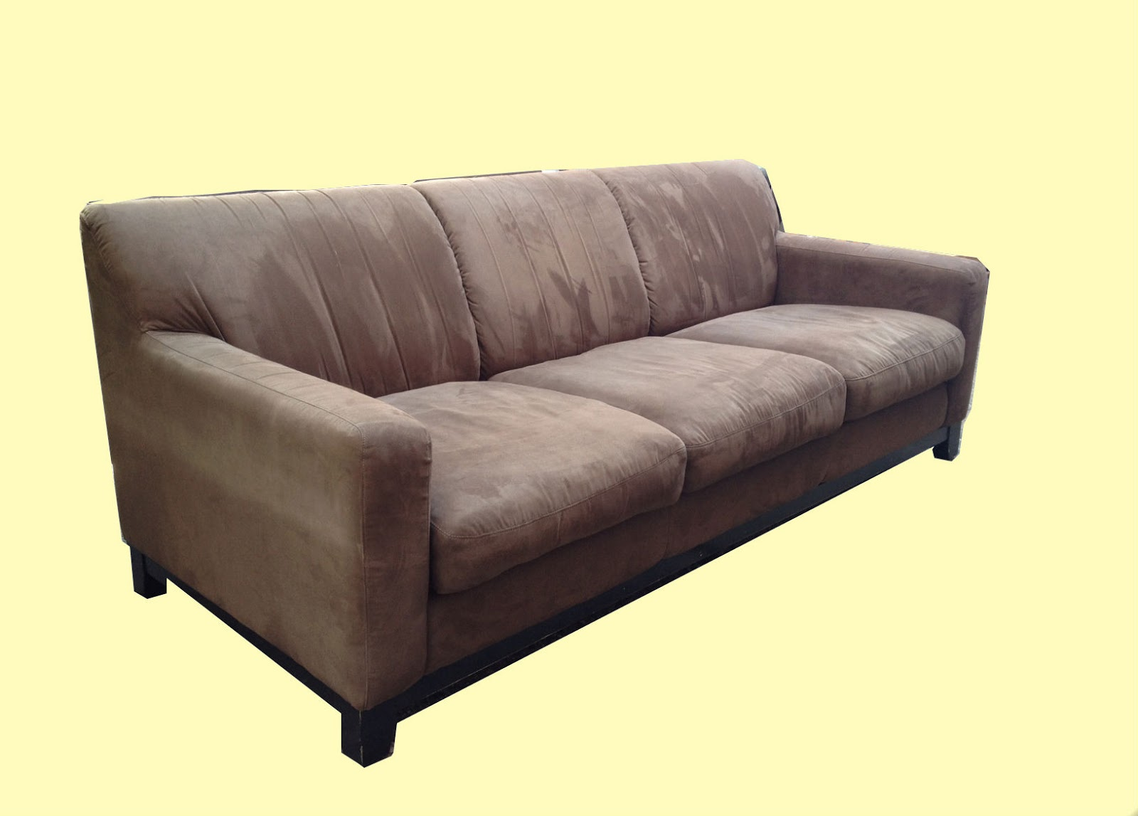 Brown suede sofa for Suede loveseat