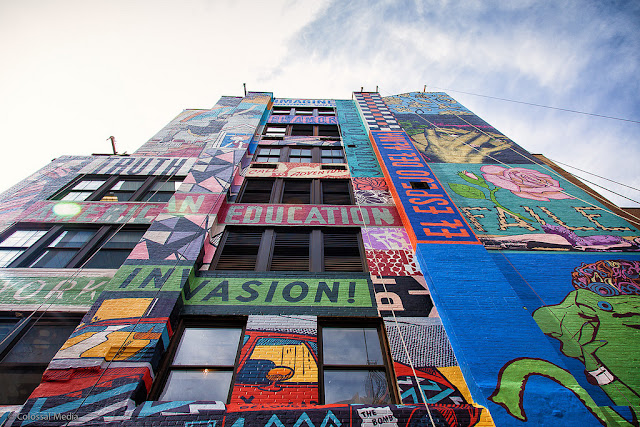 Street Art By Faile On The Streets Of New York City, USA weird angle nice