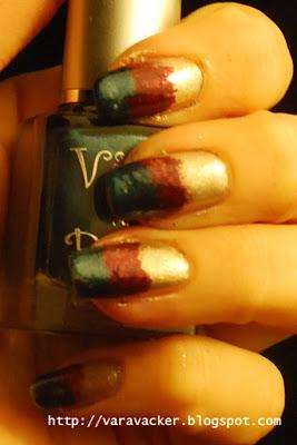 naglar, nails, nagellack, nail polish, viva la diva, MNY, gradient, svampning