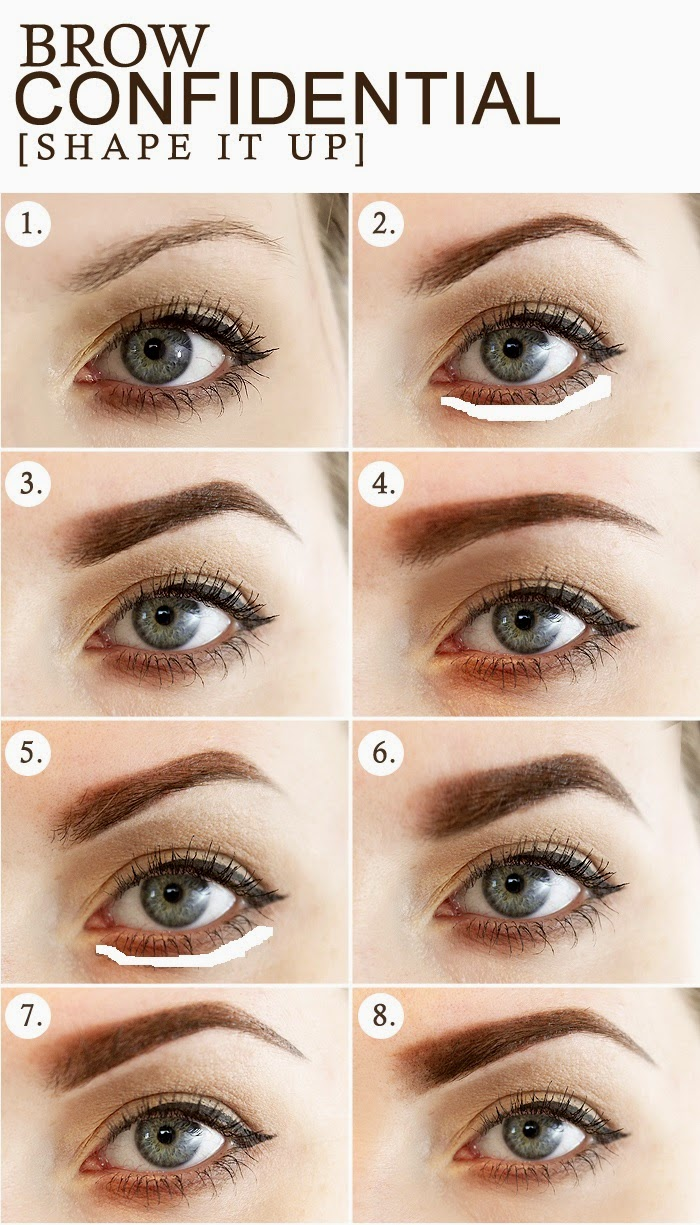 BROW CONFIDENTIAL: 8 DIFFERENT EYEBROW SHAPES