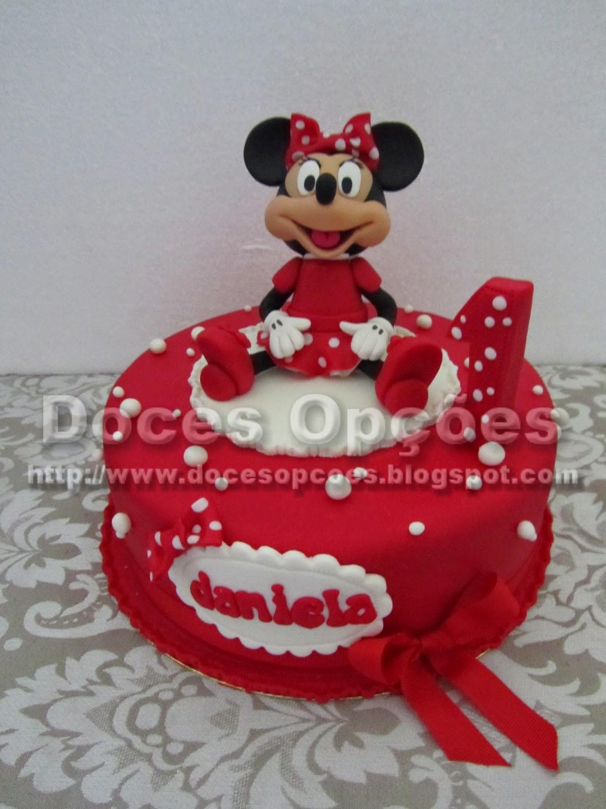 A Minnie no aniversário da Daniela