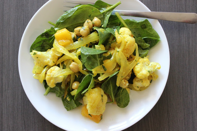 Mango and Curried Chickpea Salad | A Hoppy Medium