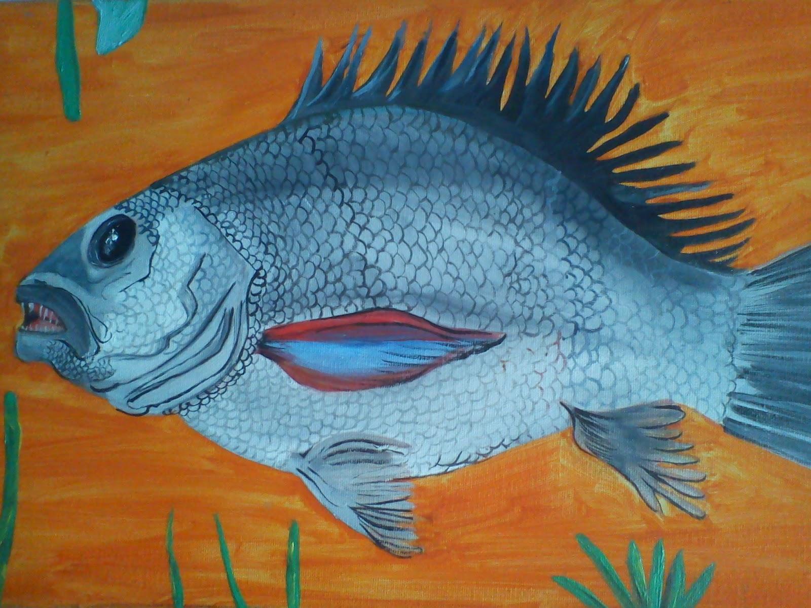 Chelita newball artista plastica pintura primitivista for Cuadros de peces