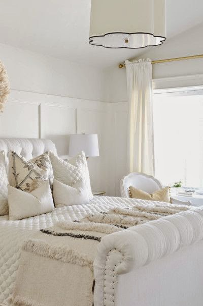 beautiful room - traditional style white master bedroom