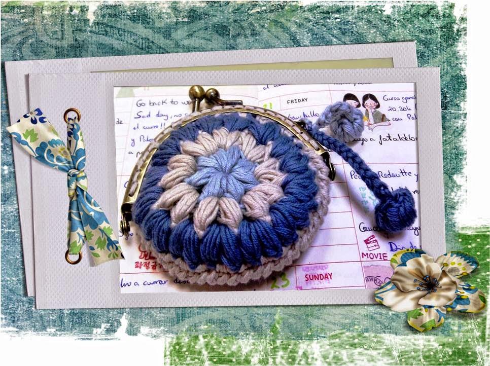Monedero tejido al crochet con explicación en Español
