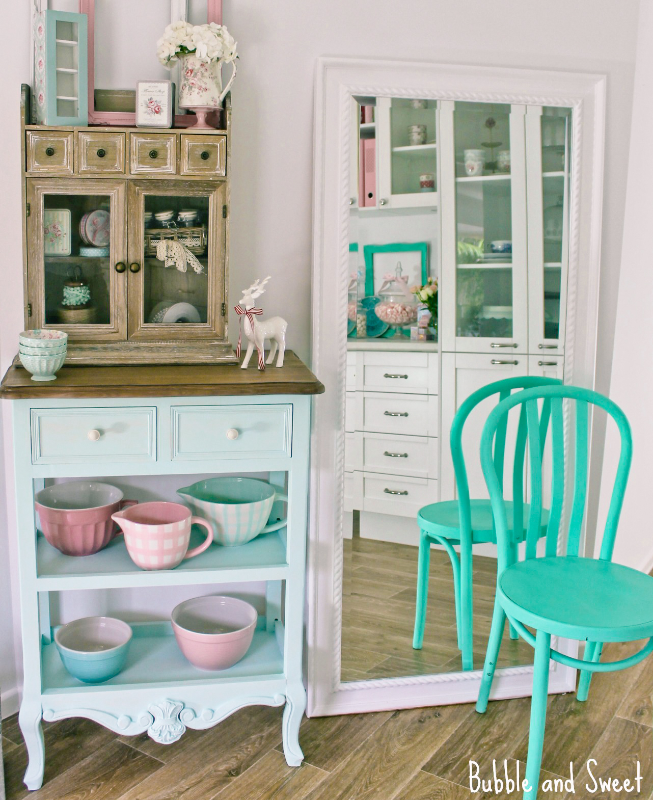 Bubble and Sweet: A modern shabby chic corner