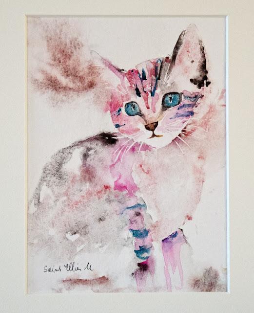 aquarelle chaton