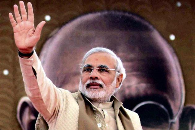 Narender Modi adressing Jansabha
