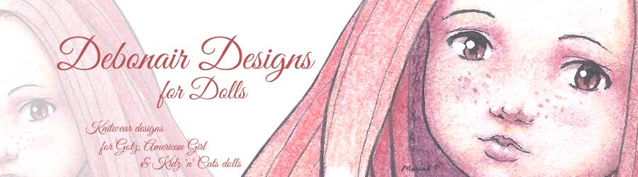"Debonair Designs for 18"" American Girl Dolls Slim Happy Gotz Kidz + Kidz n Cats dolls"