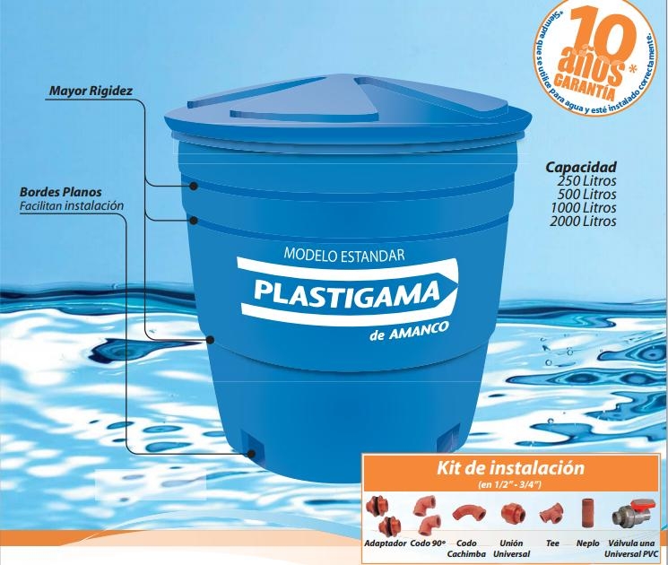 Plastigama tanque apilable ferreteria industrial leon for Precio de estanque de agua 1000 litros