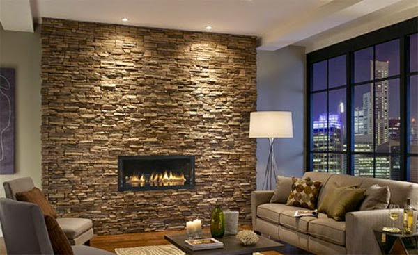False Ceiling Lights For Living Room: Ceiling Spotlights On The Fireplace