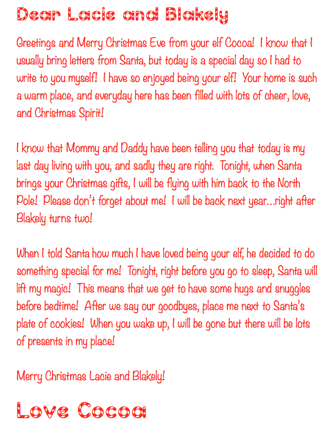 LIFE is better in PINK: Elf On The Shelf - Our Final Week and Goodbye