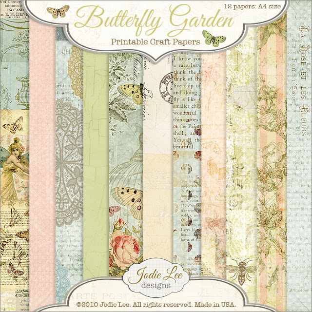 Jodie Lee Designs Free Butterfly Garden Papers to Download