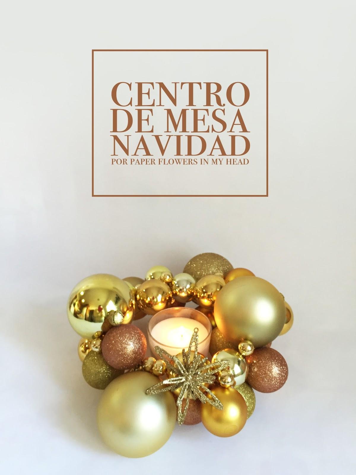 centro de mesa navidad bolas percha