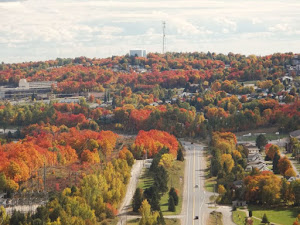 Elliot Lake, Ontario, Canada (from the air)