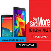 Groupon : Buy Mobiles with 20% off & Rs. 1 % Cashback : Buytoearn