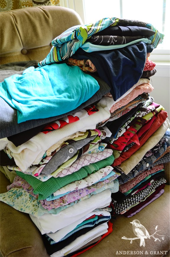 What to do with clothes you no longer want or don't fit?  Why not donate them or sell them online!